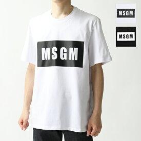 MSGM エムエスジーエム 2640 2740 MM67 半袖 Tシャツ カットソー ボックスロゴ クルーネック カラー2色 メンズ