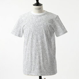 Dior Homme ディオールオム 863J613B0526 005 070 クルーネック 半袖 Tシャツ カットソー 総柄 Blanc メンズ