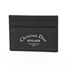 Dior Homme ディオールオム 2ATCH001XXX 03EU H03E レザー カードケース 定期入れ アトリエロゴ Noir メンズ