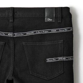 Dior Homme ディオールオム 863DS26A4209 904 900 JEANS SL 17.5 S DI RUBA ブラックデニム ジーンズ Noir メンズ