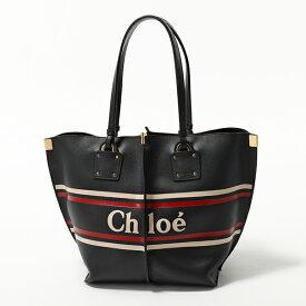Chloe クロエ CHC19SS130A85 4D4 VICK ヴィック レザー トートバッグ Full-Blue 鞄 レディース