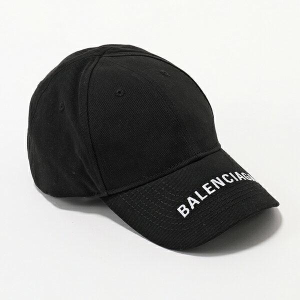 BALENCIAGA バレンシアガ 531588 310B5 1077 ロゴ刺繍 ベースボールキャップ 帽子 ユニセックス