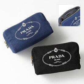PRADA プラダ 1NA693 20L CANAPA LOGO キャンバス コスメ ポーチ 化粧 トラベルポーチ カラー2色 レディース