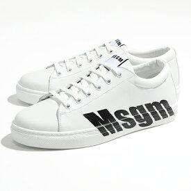 MSGM エムエスジーエム 2640 2740 MS102 100 99 LOGO CUPSOLE SNEAKERS レザー ローカット スニーカー シューズ 99 靴 メンズ
