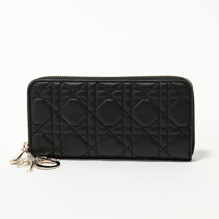 Dior ディオール S0007 ONMJ 900 LADY DIOR ラウンドファスナー 長財布 900-Noir レディース
