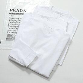 PRADA プラダ UJL531 ILK F0009 3枚セット パックT クルーネック 長袖Tシャツ ロンT ロング カットソー BIANCO メンズ