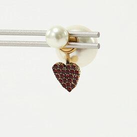 Dior ディオール E1008 TRICY 309U TRI Heart crystals Tribale 片耳用 ピアス アクセサリー 309Gold/Red-E1008A レディース