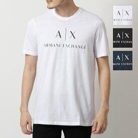 【エントリーでポイント最大12倍!15日21時〜23時59まで】ARMANI EXCHANGE アルマーニ エクスチェンジ 8NZTCJ Z8H4Z クルーネック 半袖 Tシャツ カットソー カラー2色 メンズ