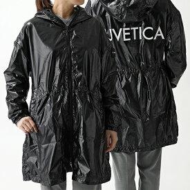 Duvetica デュベティカ ENYA エンヤ 191-D.6090S00/1223.R フーテッド スプリングコート ジャケット 収納ポーチ付き 999-NERO レディース