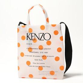 KENZO ケンゾー 5SA001 F45 PVC ロゴ トートバッグ ショルダーバッグ 17 レディース