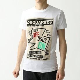 DSQUARED2 ディースクエアード S71 GD0752 S22507 100 F**K Off DSQ2 On T-Shirt ロゴ プリント 半袖 Tシャツ 100/ホワイト メンズ