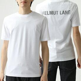 【ポイント10倍対象!7/19 20:00〜7/22 9:59】HELMUT LANG ヘルムートラング I10HM520 オーバーレイ チュール クルーネック 半袖 Tシャツ カットソー 100-WHITE メンズ