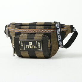 FENDI フェンディ 7VA446 A6HY F164H キャンバス ボディバッグ ベルトバッグ ウエストポーチ ロゴ ラバータグ 鞄 メンズ