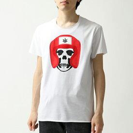 lucien pellat-finet ルシアンペラフィネ EVU 2096 クルーネック 半袖 Tシャツ カットソー メローロック WHITE メンズ