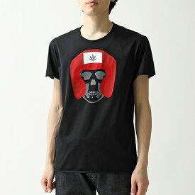 lucien pellat-finet ルシアンペラフィネ EVU 2096 クルーネック 半袖 Tシャツ カットソー メローロック BLACK メンズ