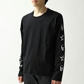 lucien pellat-finet ルシアンペラフィネ EVU2107 クルーネック 長袖Tシャツ ロンT ロング カットソー メローロック BLACK メンズ