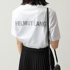 【10%OFFクーポン対象!19日限定】HELMUT LANG ヘルムートラング I10HM520 オーバーレイ チュール クルーネック 半袖 Tシャツ カットソー 100-WHITE レディース【cp_tshirt】