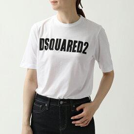 DSQUARED2 ディースクエアード S72 GD0147 S21600 ロゴ クルーネック 半袖Tシャツ カットソー 100 レディース
