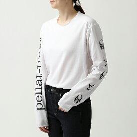 lucien pellat-finet ルシアンペラフィネ EVU2107 クルーネック 長袖Tシャツ ロンT ロング カットソー メローロック WHITE レディース