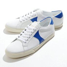 CELINE セリーヌ 328073032C.06WB TRIOMPHE トリオンフ レザー ローカット スニーカー シューズ WHITE/BRIGHTBLUE 靴 メンズ