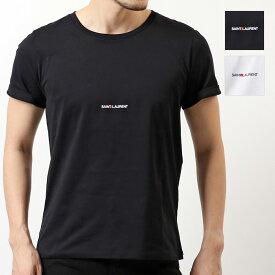 SAINT LAURENT PARIS サンローランパリ 464572 YB2DQ クルーネック 半袖 Tシャツ カットソー 丸首 1000 メンズ