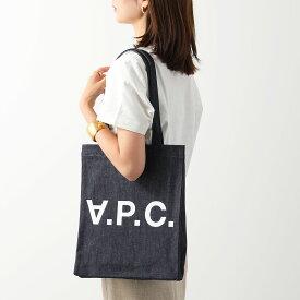 APC A.P.C. アーペーセー COCSX H61296 Laurent IAI デニム ロゴ トートバッグ ショッピングバッグ INDIGO ユニセックス