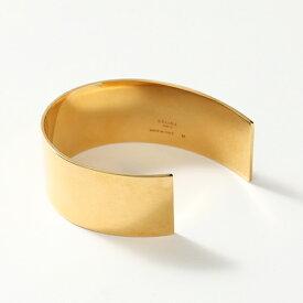 【エントリーでポイント最大26倍!9/25限定】CELINE セリーヌ 46G816BR1.35OR ThIn Cuff シン フラット ブレスレット ブラス バングル Gold #oldceline