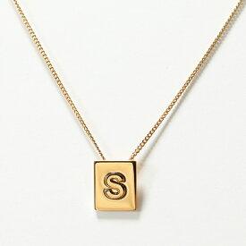 CELINE セリーヌ 46N0S6BRA.35OR S Necklace アルファベット ネックレス ブラス イニシャル Gold レディース