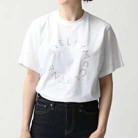 STELLA McCARTNEY ステラマッカートニー 511240 SMW22 9000 クルーネック 半袖 Tシャツ カットソー レインボーロゴ レディース