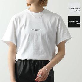 【サイズ限定特価】STELLA McCARTNEY ステラマッカートニー 511240 SMW21 9000 クルーネック 半袖 Tシャツ カットソー ちびロゴ レディース