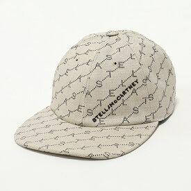 STELLA McCARTNEY ステラマッカートニー 558052 W8460 9740 モノグラム コットンデニム ベースボールキャップ 帽子 ロゴ刺繍 レディース
