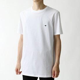 Dior Homme ディオールオム 733J603B0446 089 クルーネック 半袖 Tシャツ カットソー WHITE メンズ