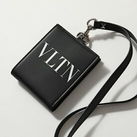 VALENTINO ヴァレンティノ UY2P0342 LVN LVN ネックストラップ付き レザー 二つ折り財布 小銭入れ付き 0NO メンズ