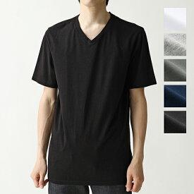 three dots スリードッツ Vネック 半袖 Tシャツ ショートスリーブ カットソー 無地 BO1V 646 カラー5色 メンズ