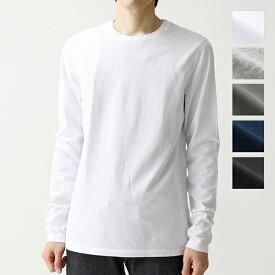 three dots スリードッツ クルーネック 長袖 Tシャツ ロングスリーブ カットソー 無地 BO2C 648 カラー5色 メンズ