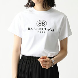 BALENCIAGA バレンシアガ 556110 TYK23 ロゴ 半袖 Tシャツ カットソー クルーネック 丸首 9000 レディース