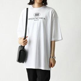 BALENCIAGA バレンシアガ 556109 TYK23 ロゴ オーバーサイズ 半袖 Tシャツ カットソー クルーネック 9000 レディース