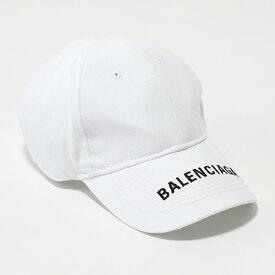 ff6026b987e40c BALENCIAGA バレンシアガ 531588 410B7 9060 コットン ベースボールキャップ 帽子 ロゴ刺繍 メンズ