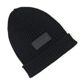 PRADA プラダ UMD429 U97 F0002 ウール ニット帽 ニットキャップ リブ 帽子 ビーニー NERO メンズ