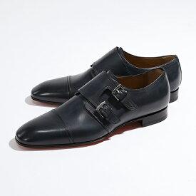 Christian Louboutin クリスチャンルブタン 3170040 Mortimer ダブルモンク レザーシューズ ドレスシューズ 革靴 BL1U/NAVY メンズ