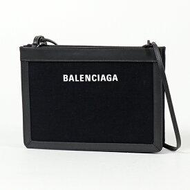BALENCIAGA バレンシアガ 339937 AQ37N 1000 NAVY M POCHETTE ネイビー ポシェット キャンバス ショルダーバッグ クラッチ レディース