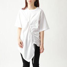 MAISON MARGIELA メゾンマルジェラ 1 S51GC0425 S22816 ドローコード絞り 半袖 Tシャツ デザインカットソー 無地 100 レディース