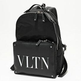 VALENTINO ヴァレンティノ SY2B0340 YJM ナイロン×レザー ロックスタッズ バッグ バックパック リュック デイパック 0NI/NERO 鞄 メンズ