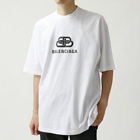 BALENCIAGA バレンシアガ 570803 TEV48 9044 オーバーサイズ 半袖 Tシャツ クルーネック カットソー ロゴプリント メンズ