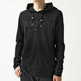 BALMAIN バルマン SH11006 I128 フーディー 長袖Tシャツ ロンT ロング カットソー 0PA/Noir メンズ