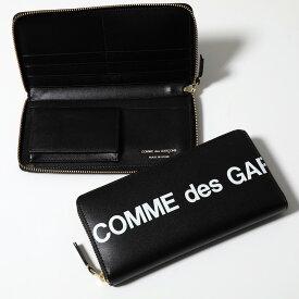 COMME DES GARCONS コムデギャルソン SA0110HL HUGE LOGO レザー ラウンドファスナー長財布 BLACK メンズ
