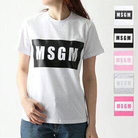 MSGM エムエスジーエム 2641 2741 MDM95 半袖 Tシャツ ボックスロゴ カットソー クルーネック 丸首 カラー5色 レディース