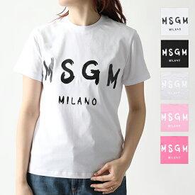 MSGM エムエスジーエム 2641 2741 MDM60 半袖 Tシャツ カットソー クルーネック 丸首 カラー5色 レディース