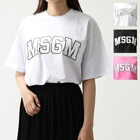 MSGM エムエスジーエム MDM162 MDM62 オーバーサイズ 半袖 Tシャツ クルーネック ビッグシルエット カットソー カラー3色 レディース