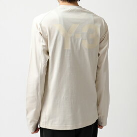 Y-3 ワイスリー adidas アディダス YOHJI YAMAMOTO FJ0370 U CL CRW LS TEE クルーネック 長袖Tシャツ ロンT ロング カットソー ECRU メンズ